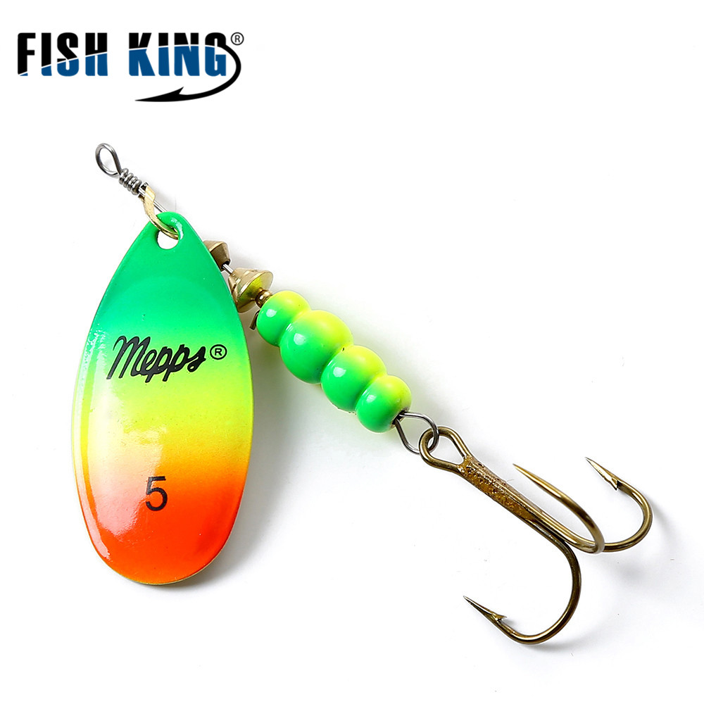 FISH KING MEPPS 4 Color 0# 5# Lure Artificial Bait With Mustad ...