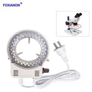 Image 1 - Foxanon светодиодная кольцевая осветительная лампа AC 110V 220V Регулируемый микроскоп Высокое качество DC 12V стерео микроскопические светильники