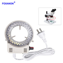 Foxanon LED Ring Light Illuminator Lamp AC 110V 220V Adjustable Microscope Light High Quality DC 12V Stereo Microscopio Lights