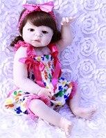23 reborn Baby Doll Princess Girl Dolls full body Soft Silicone Babies Girls Lifelike real born dolls curly hair bonecas rebor
