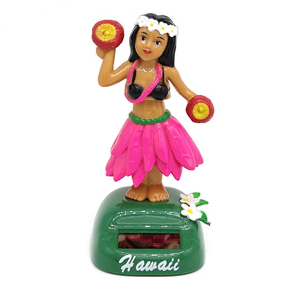 Солнечный танцующий Гавайский девочка хула качающаяся голова игрушка авто Интерьер декомпрессия приборной панели украшения автомобиля аксессуары для автомобиля - Цвет: A