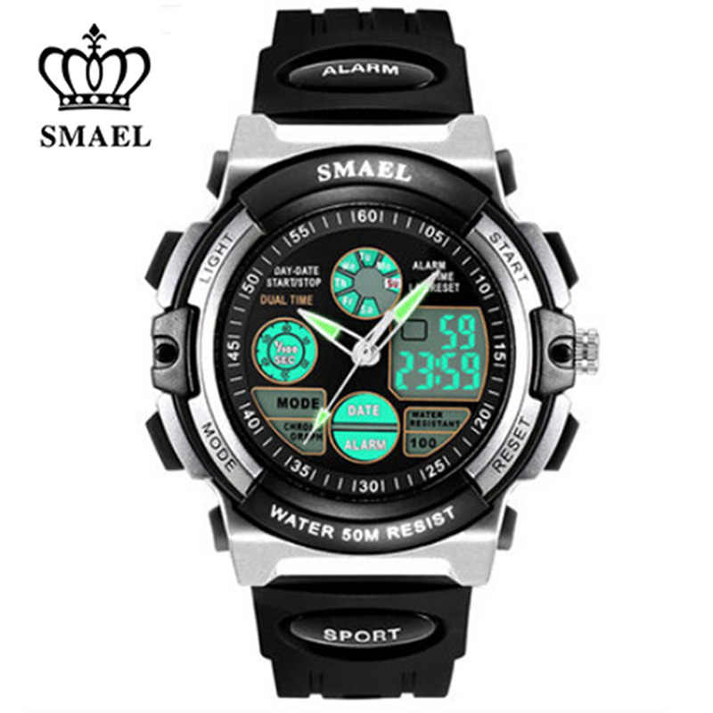 SMAEL Children LED Display Digital Watch 50M Waterproof Kids Sports Watches Multifunction Quartz Boys/Girls Students Wristwatch