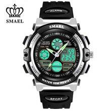 SMAEL – montre-bracelet étanche 50M pour enfants, affichage numérique, sport, multifonction, Quartz, pour écoliers garçons/filles