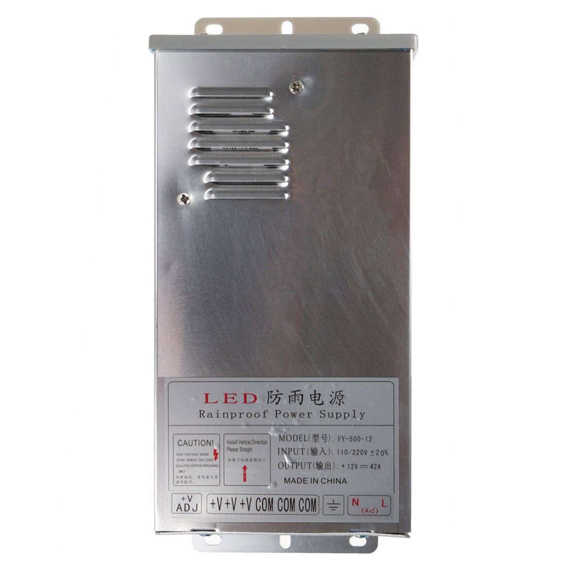 Top Deals In/Outdoor Switching Power Supply Silver, FY 500 12 12V 42A 500W