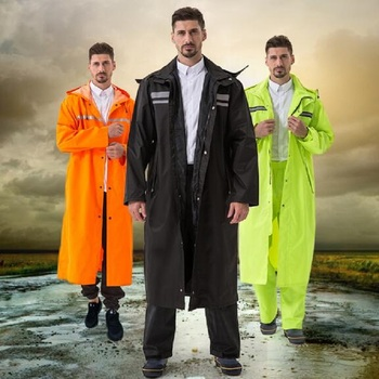 babe758b889 Largo impermeables para los hombres, Poncho Impermeable capa de lluvia  Poncho chaqueta de las mujeres al aire libre Tour ropa Impermeable adultos