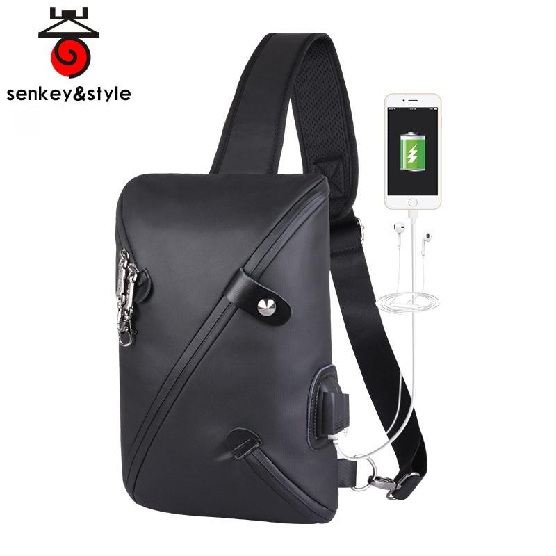 2019 New Multifunction Crossbody Bag for Men Anti-theft Shoulder Messenger Bags Male Waterproof Short Trip Chest Bag Oxford