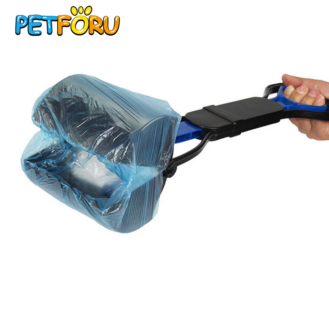 Petforu 5 Rolls Outdoor Pet Dog Waste Poop Bag Portable Puppy Dog Shit Pick Up Cleaning Bags Pets Dogs Trash Cleaning Supplies