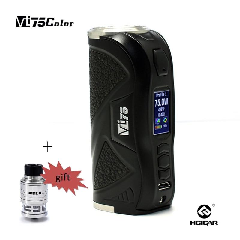 Original HCigar VT75 Color 75w Box Mod Evolv DNA E-Cigarette Chip New Products Mod Electronic Cigarette Vape Mod