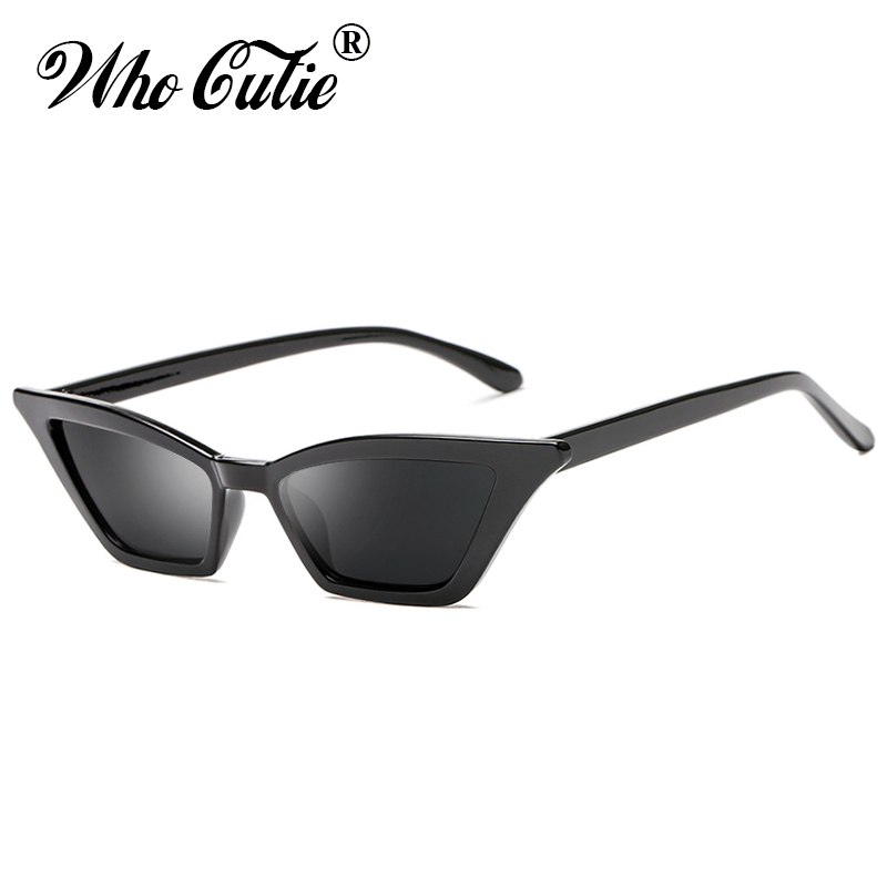 d72043bf23 WHO CUTIE 2018 Small Red Cat Eye Sunglasses Women Brand Retro Vintage  Narrow Rectangular Cateye Frame 90S Sun Glasses Shades 576-in Sunglasses  from Apparel ...