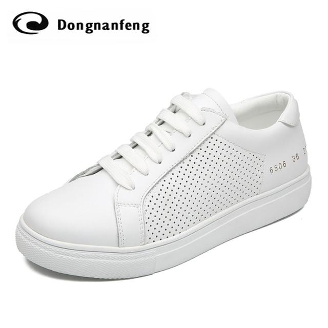 Mujeres de Los Planos Zapatos de Cuero blanco 2016 Nueva Suela Gruesa Mujer Pareja suave Zapatos Casuales Zapatos de Marca Coreana de Encaje Negro JFN-6506