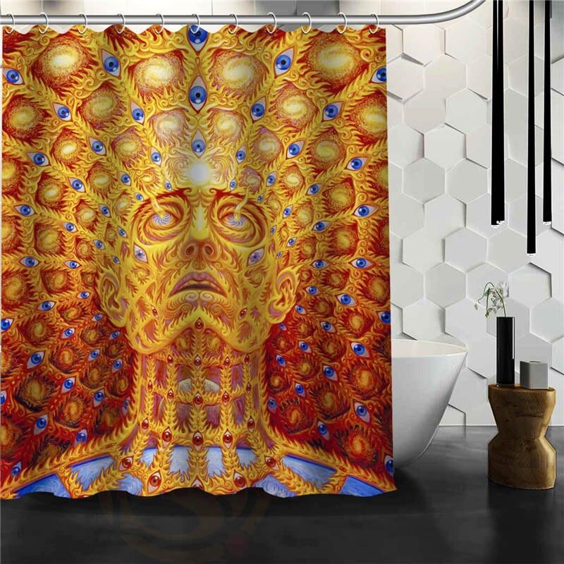 custom alex grey shower curtain bathroom products creative polyester home shower curtain bathroom product