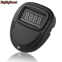 BigBigRoad Car Digital GPS Speedometer HUD Head Up Display Windscreen Auto Compass Real Time Overspeed Alarm