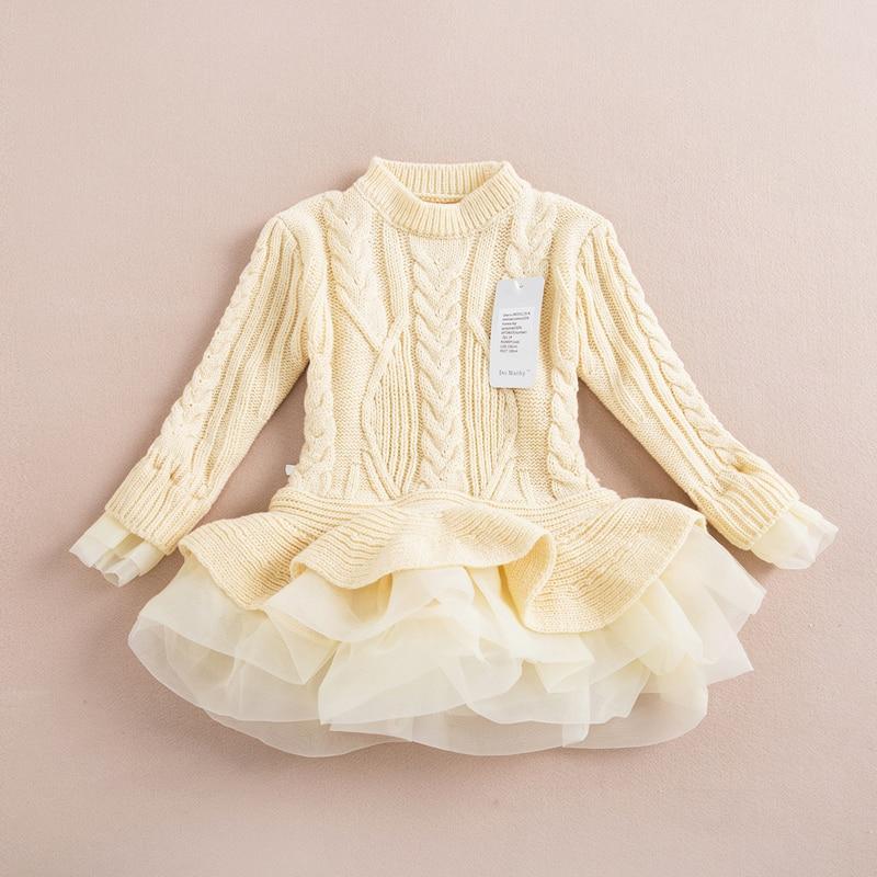 R & Z otoño 2017 gruesa caliente vestidos de niña princesa de punto - Ropa de ninos - foto 5