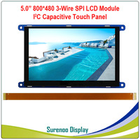 5 5.0 Inch 800*480 800480 Serial 3 Wire SPI TFT LCD Module Display Screen With I2C Capacitive Touch Panel