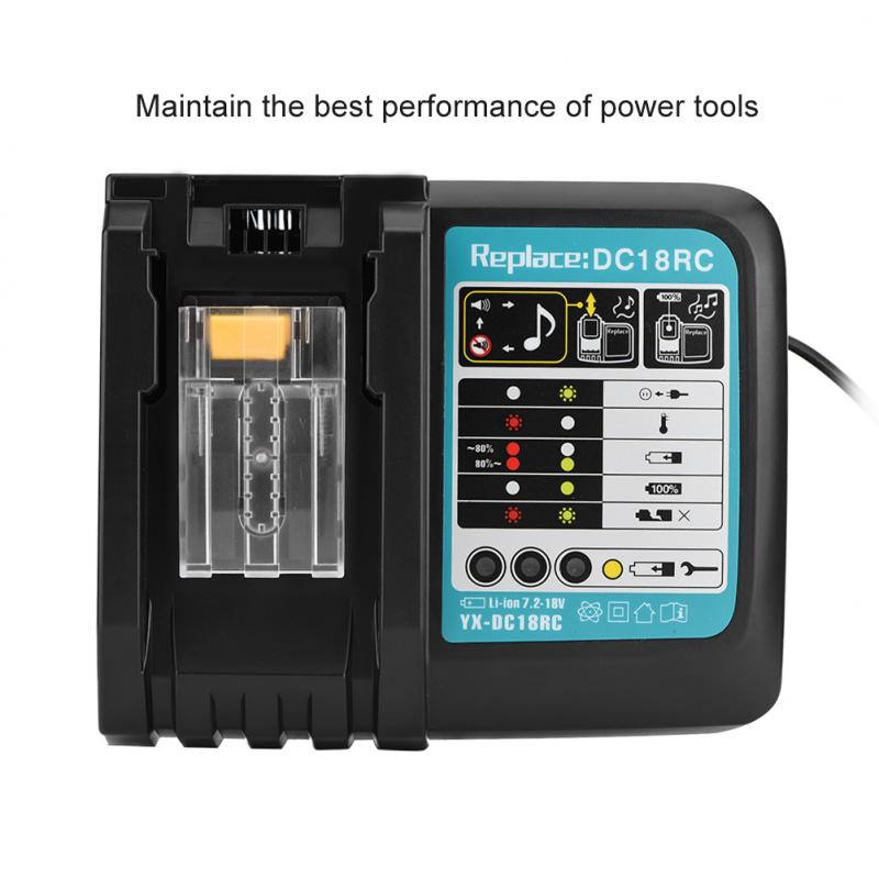14.4V-18V 3A Li-Ion Fast Battery Charger For Makita BL1415, 1420, 1815, 1820, 1830, 1840, 1850, 1845 ,1860 Power Tool US