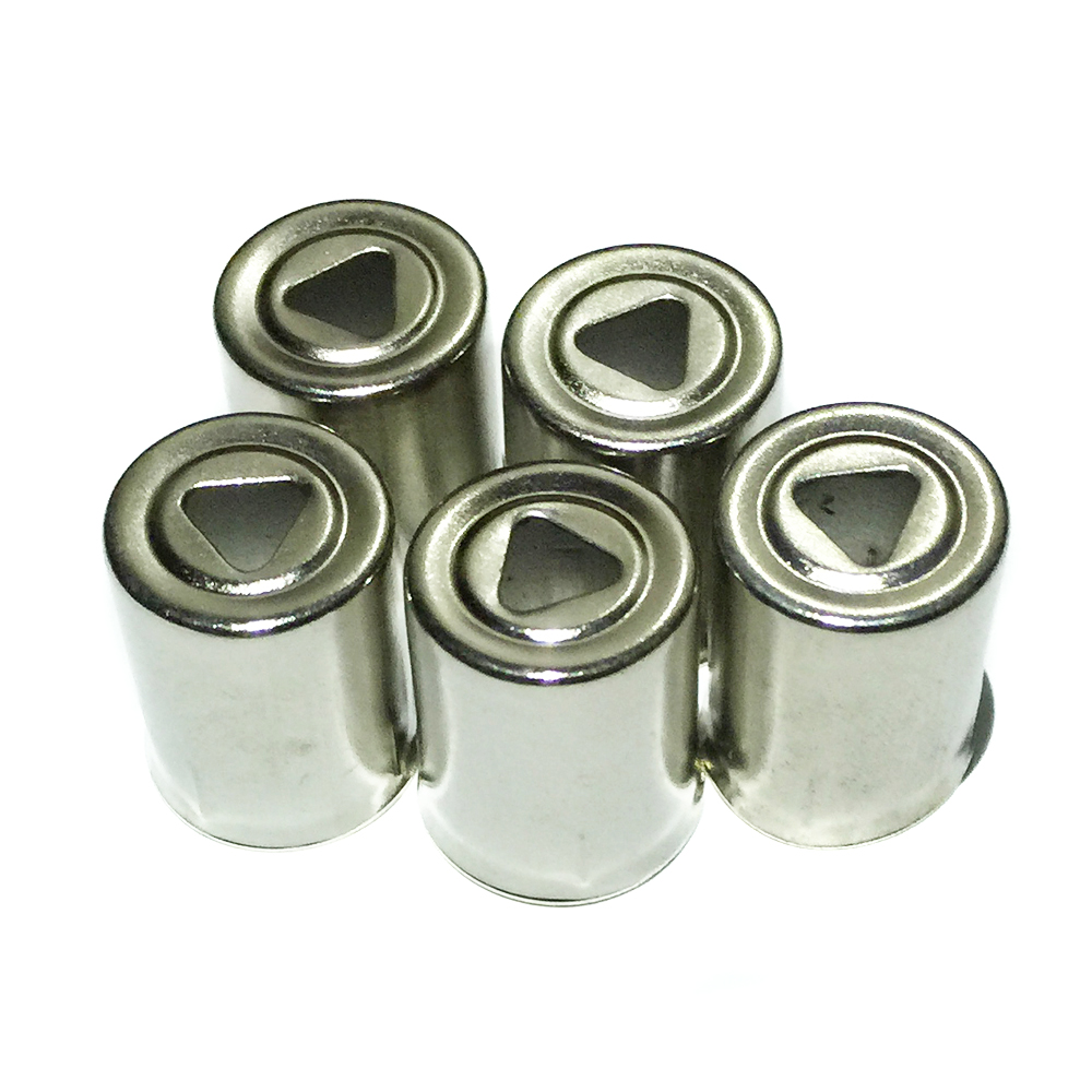 5Pcs/Lot Magnetron Steel Cap Microwave Oven Replacement Triangle Hole Silver Tone Home Kitchen Appliance Parts Accessories New