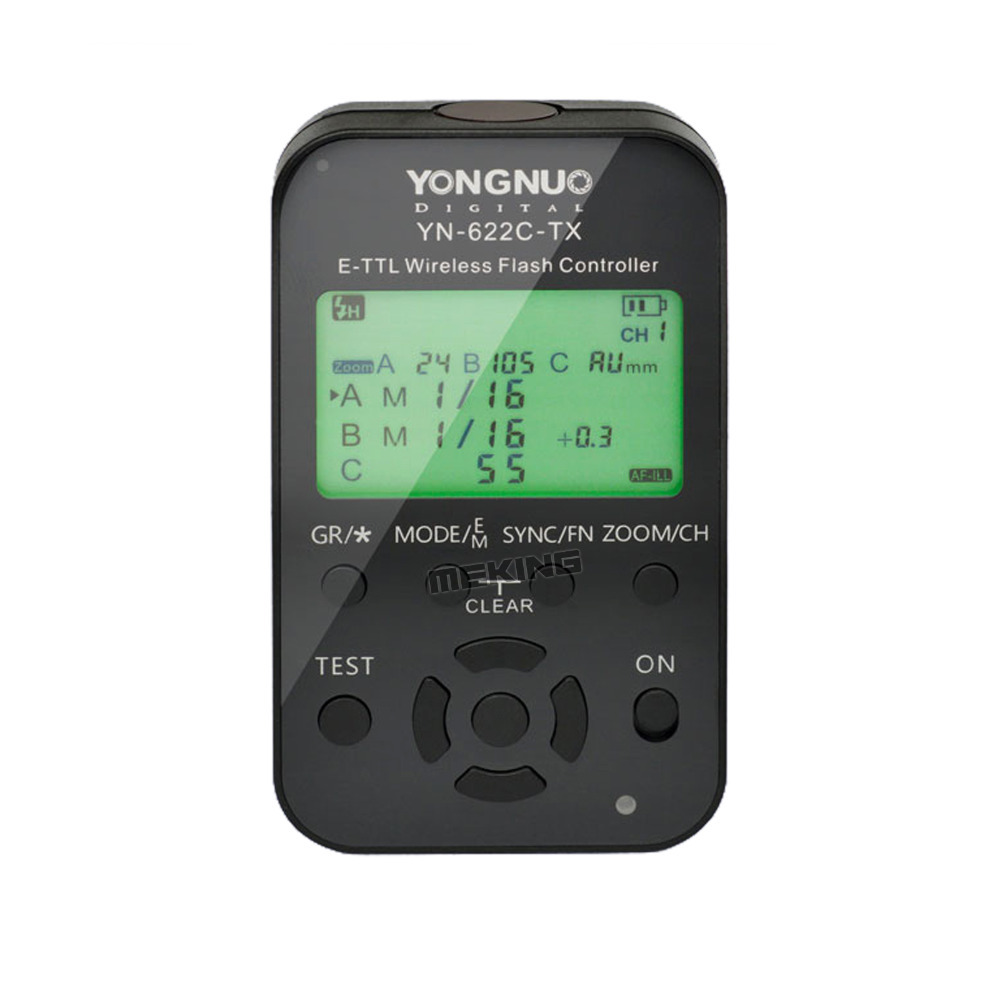 Yongnuo YN-622C-TX TTL LCD Wireless Flash Controller Wireless Trigger Transmitter Shutter Release for Canon DSLR 7D 60D 50D 40D цена и фото