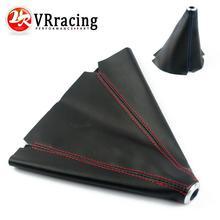 VR RACING-PVC Carbon Fiber Look Red/Blue JDM Stitch Shift Knob Shifter Boot Cover MT/AT VR-SBC12
