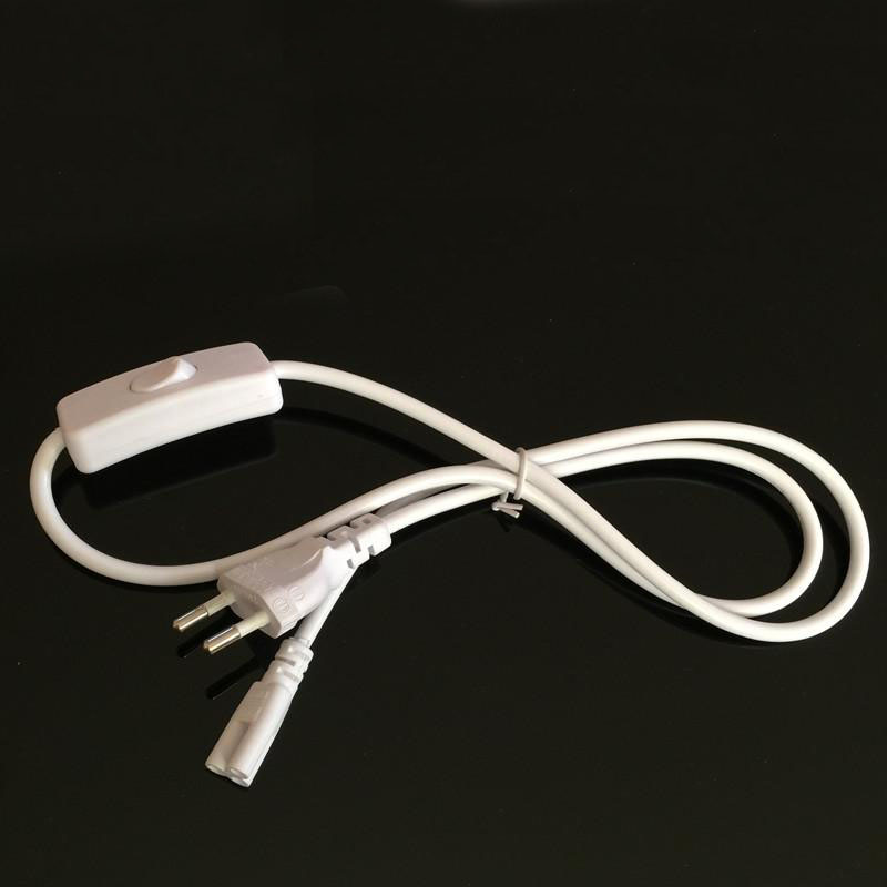 T5 T8 LED Tube <font><b>3</b></font> Hole Extension Wire Switch <font><b>Power</b></font> Cord 1.8 Meter <font><b>Cable</b></font> image