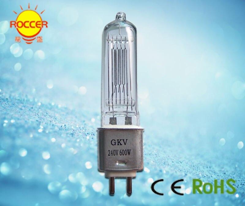 CHANGSHENG GKV 240V 600W halogen lamp bulb G9 5 stage light 64716