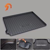 FIT FOR Peugeot 5008 2017 BOOT LINER REAR TRUNK CARGO MAT FLOOR TRAY CARPET MUD COVER PROTECTOR 3D car styling