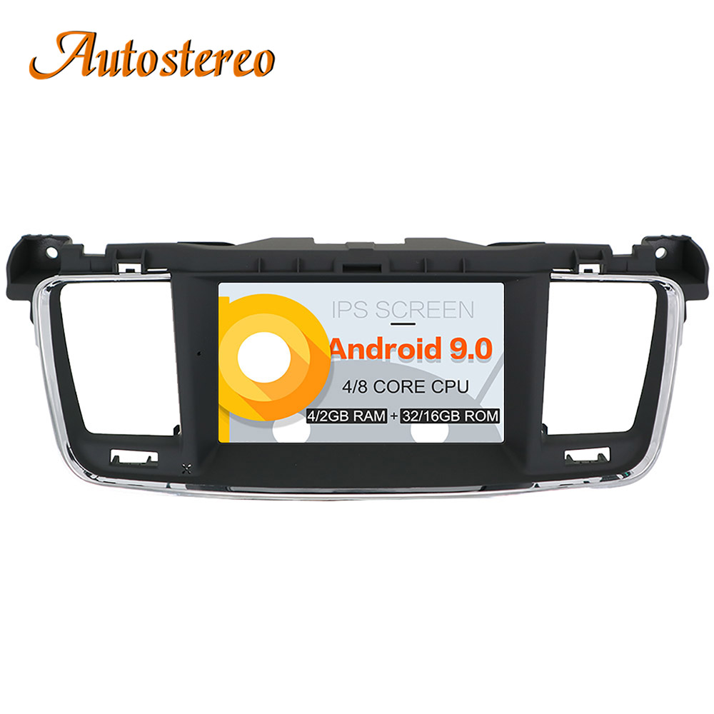 Newest Android 9 Car DVD player GPS navigation radio Stereo For PEUGEOT 508 2011 2012 2013