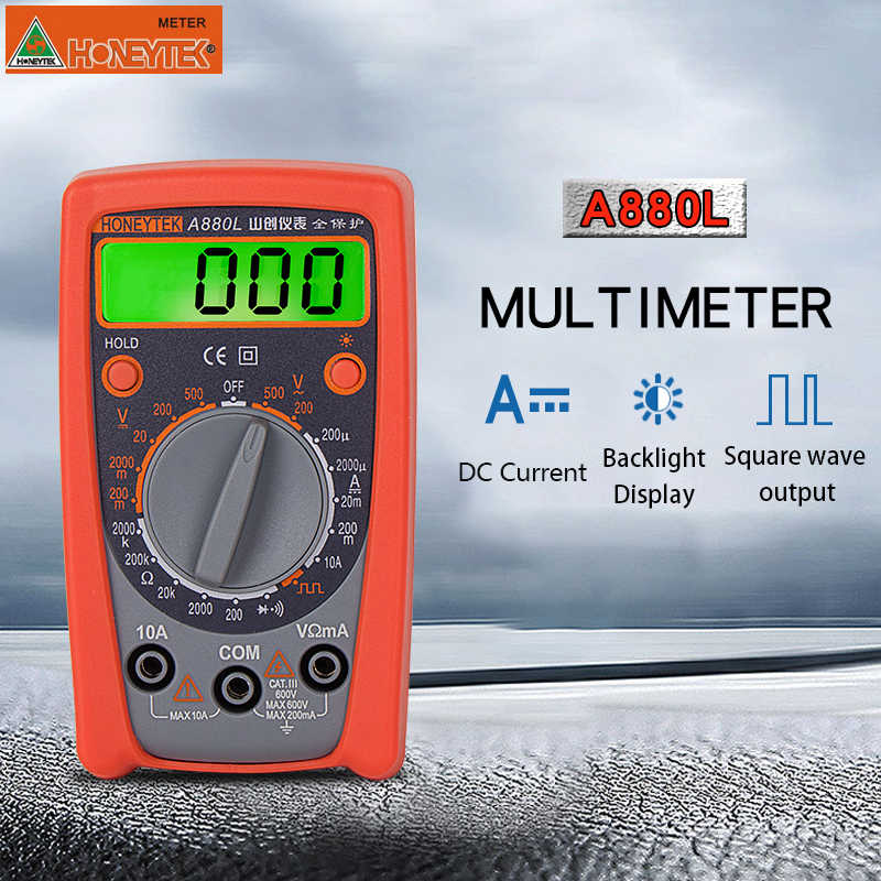 MINI Pocket Tester Digitale Multimeter Profesional DC/AC Voltmeter Met set van probes voltmeter multi-tester elektrische meter