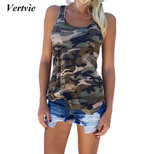Vertvie Fitness Tank Top Frauen Sommer Sleeveless Lose Yoga Shirts Für Frauen Plus Größe Yoga Top Camouflage Gedruckt Shirts Weste(China)