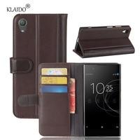 KLAIDO Genuine Cow Leather Case For Sony Xperia XA1 Plus Case 5 5 Inch Luxury Wallet
