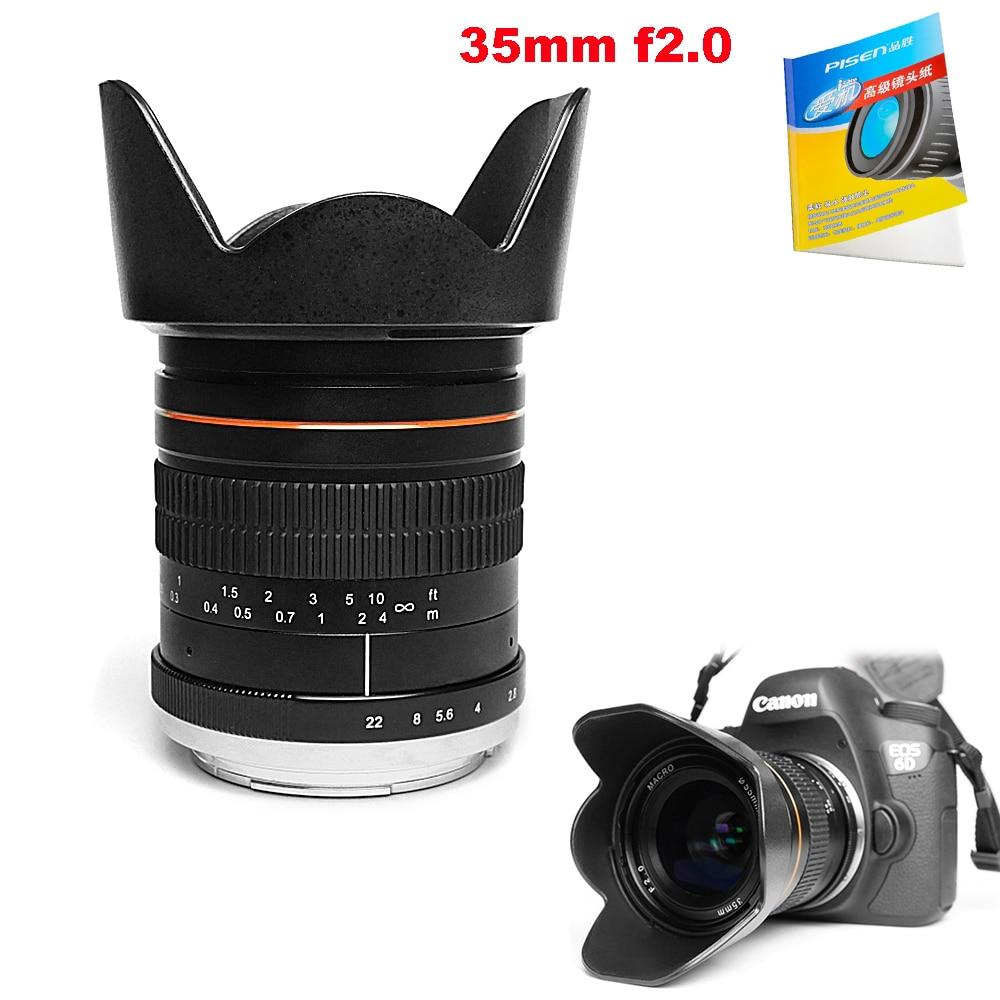 Kelda 35mm F2.0 Full Frame Fixed focus Large Aperture Prime Manual ...