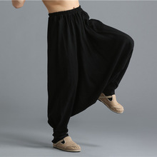 Spring summer men harem pant street fashion casual punk linen trousers loose pants male low crotch cross pants ,C56