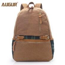 АВГУР новые модные Для женщин Школа Рюкзак Сумка Высокое качество холст путешествия рюкзак для ноутбука Дизайнер Школьные сумки для подростков Обувь для девочек