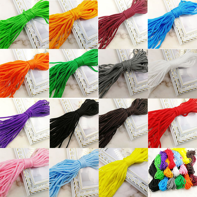 Wholesale 10M 3mm Solid Cord Lanyard Rope Strand Paracord Bracelet Lanyard Camping Rope Clothesline Survival Parachute Cord(China)