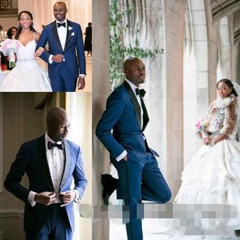 2017  ivory Mens Dinner Party Prom Suit Groom Tuxedo 2018 slim fit white Groomsmen Wedding Blazer Suits for men (Jacket+Pants)