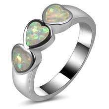 Hot Sale Exquisite White Fire Opal 925 Sterling Silver High Quantity Engagement Wedding Ring Size 5 6 7 8 9 10 11 A169