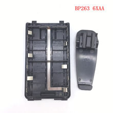 BP263 6xAA battery case/box for Icom IC V80/V80E IC-T70A/70E IC-F27SR,F3103D,F4103D,F4102D,F3001 etc wakie talkie with belt clip(China)