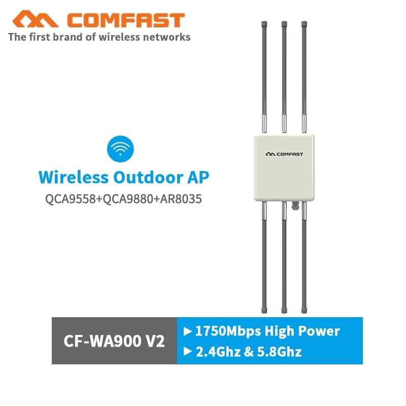 Comfast cf-1750 Mbps 500 mw gigabit Outdoor AP router senza fili di wifi di base staion omnidirezionale CPE AP con 6 * 8dBi antenne per il parco