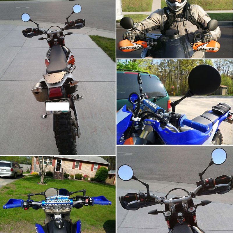 ROAOPP Motorcycle Mirror 22MM Handle Bar End Mirrors For Yamaha Suzuki Ducati Kawasaki BMW Buell KTM Dual Sport Dirt Bikes ATV