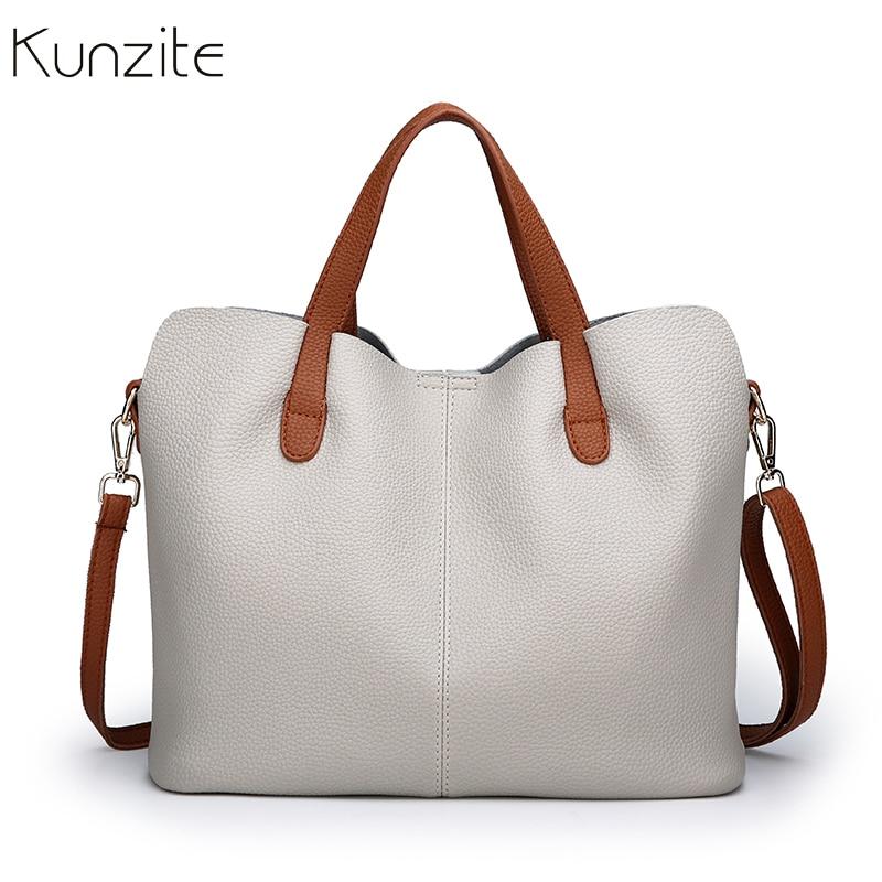 European American Style Leather Shoulder Crossbody Bags For Women 2019 Bags Handbags Women Famous Brands Women Leather Handbags