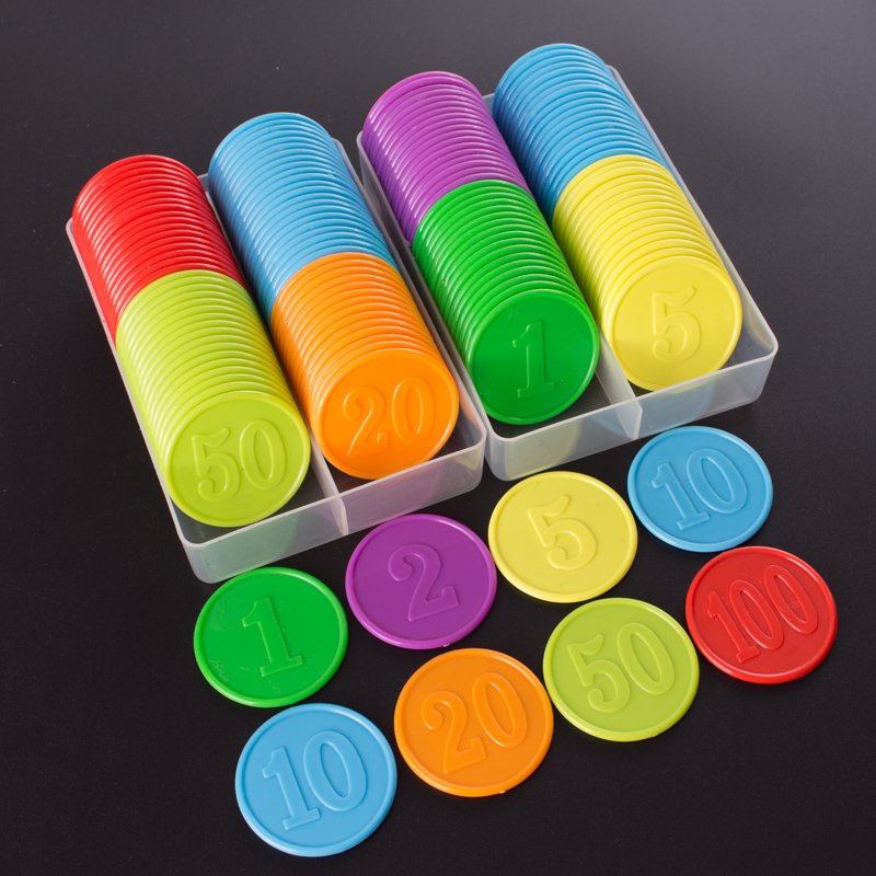 10pcs/lot Plastic Poker Chip For Gaming Tokens Plastic Coins Family Club Board Games Toy Creative Gift For Children