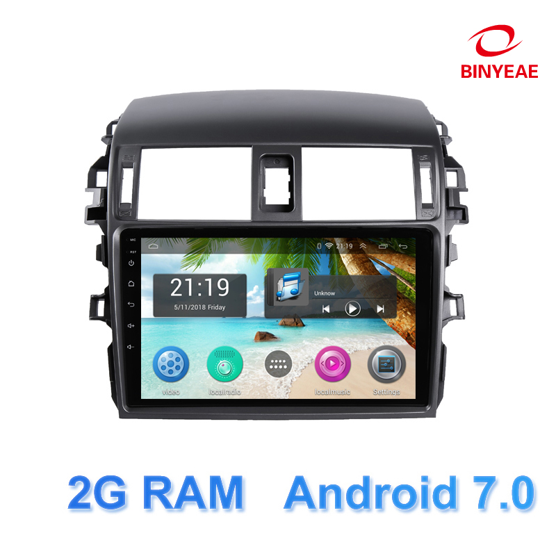 9 Android 7.0 Car DVD Multimedia Player GPS For Toyota Corolla 2007 2008 2009 2010 2011 audio car radio stereo navigator wifi