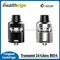 100 Original Geekvape Tsunami 24 Glass Window RDA Tank Velocity Style Deck Adjustable Airflow Atomizer