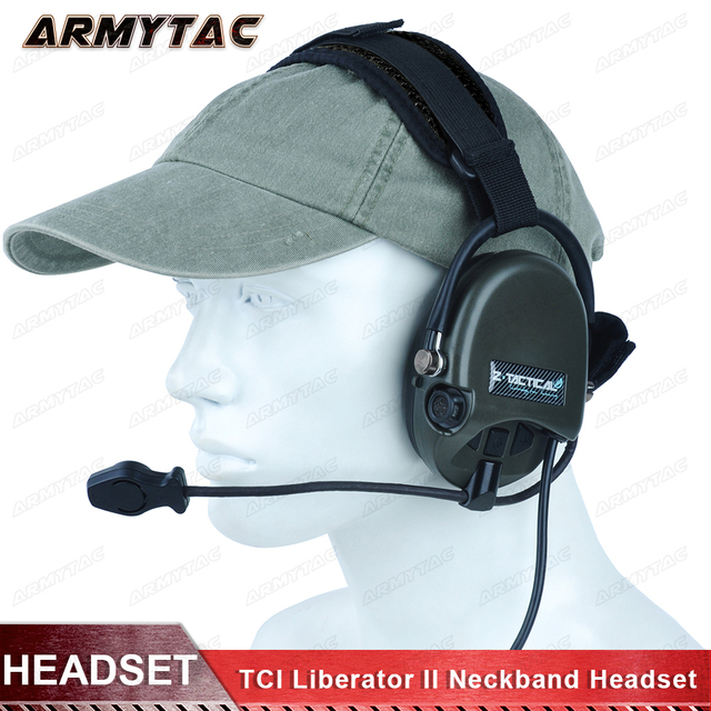 cb973dcf3ef Z-Tactical TCI Liberator II Neckband Headset Military Hunting Wargame  Airsoft Tactical Comtac Noise Reduction Headphone Z039