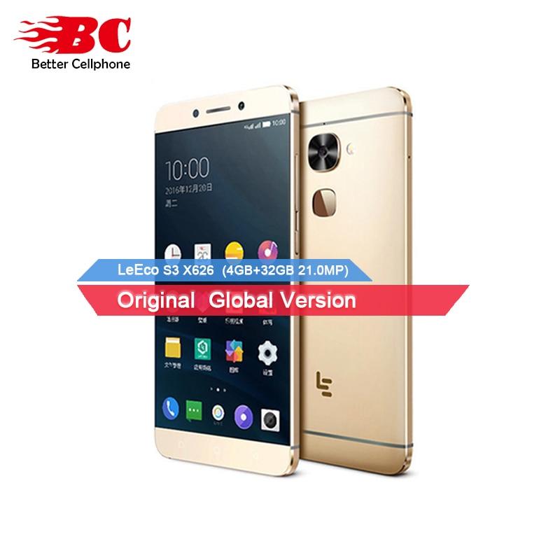 Ursprüngliche Letv LeEco Le S3 X626 4G Smartphone MTK6797 Helio X20 Deca Core 5,5 Zoll FHD 4 GB + 32 GB 21MP Fingerprint ID Handy