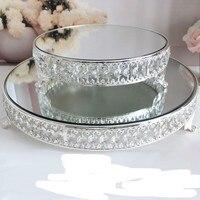 luxury Metal crystal big cake stand cake tower holder /fruit snack tray / baking party supplies / wedding cupcake decor