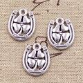 6pcs Charms horseshoe lucky clover 18*15mm Antique Making pendant fit,Vintage Tibetan Silver,DIY bracelet necklace