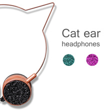 Cute Cat ears headphones with mic headset For IPhone xiaomi Samsung Android Smartphone CP notebook Children headphone
