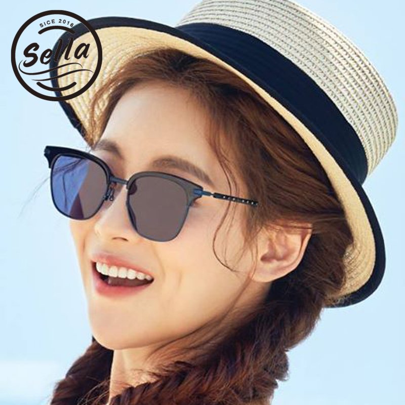 Sella New Arrival Fashion Retro Women Men Sunglasses Brand Designer Sexy Ladies Semi-Rimless Tint Lens Sun Glasses UV400
