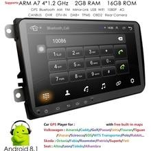"""Nuovo! 9 """"Android 8.1 Navigazione di GPS Dell'automobile per il VW Volkswagen SKODA GOLF 5 Golf 6 POLO PASSAT B5 B6 JETTA TIGUAN Specchio Link dvr dash"""