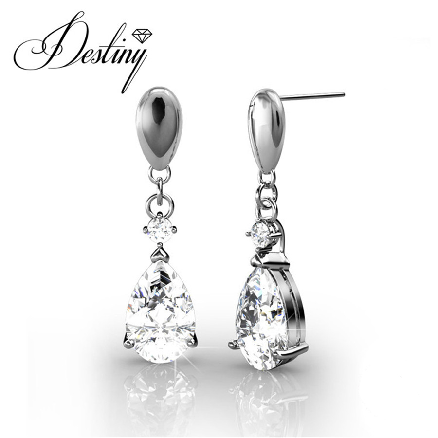 Destiny Jewellery Embellished With Crystals From Swarovski Earrings  Princess Drop Earrings De0079(china (mainland